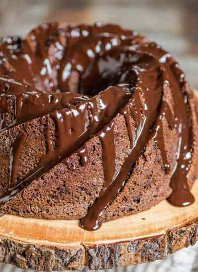 Triple Chocolate Bundt Cake Recipe with Chocolate Ganache Drizzle