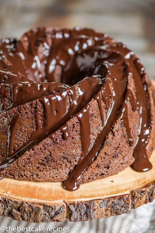 Triple Chocolate Bundt Cake Recipe With Chocolate Ganache