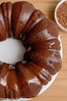 potato cake with rum glaze