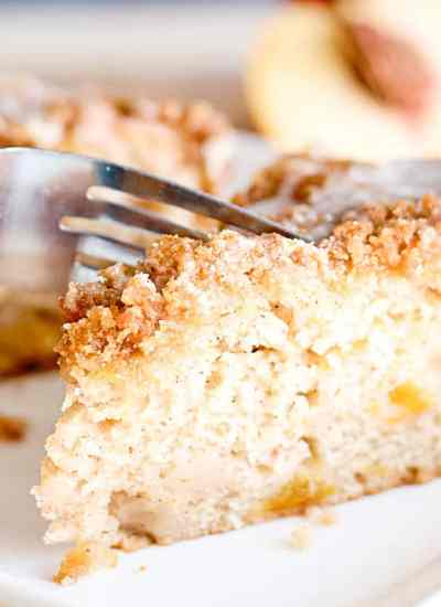 peach coffee cake with streusel
