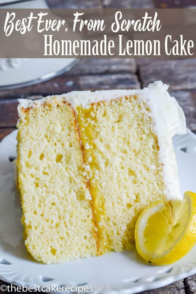 homemade lemon cake title image
