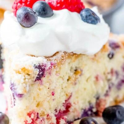 Blueberry Raspberry Cake
