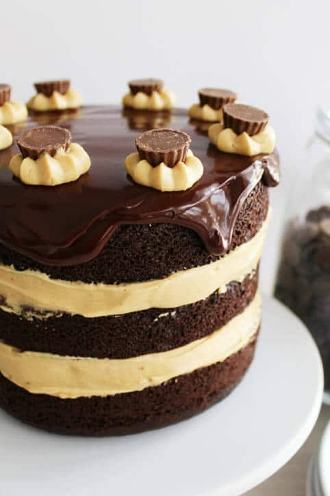 Chocolate Peanut Butter Cake From Scratch Cake With Reese