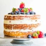 semi homemade white cake with fresh berries