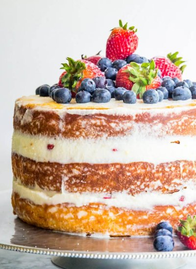 naked cake with mascarpone cream