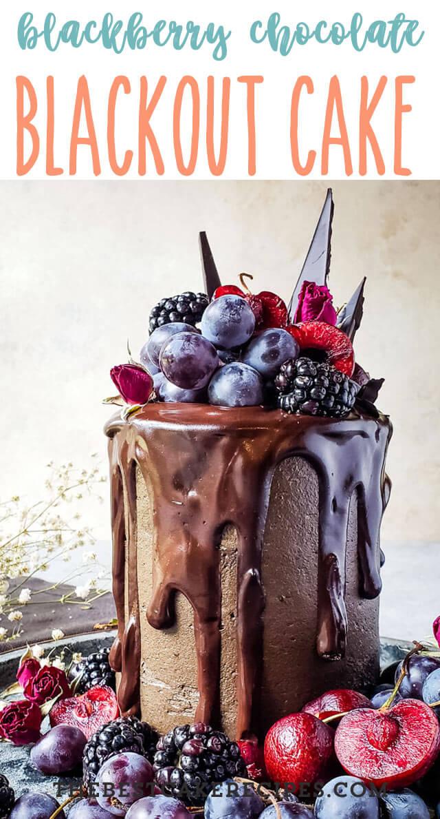 blackberry chocolate cake title image