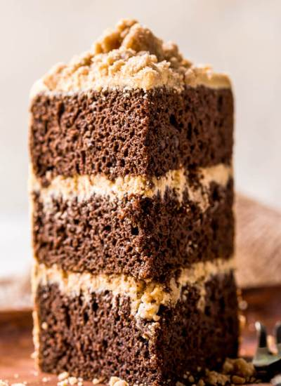 three layer chocolate pumpkin cake