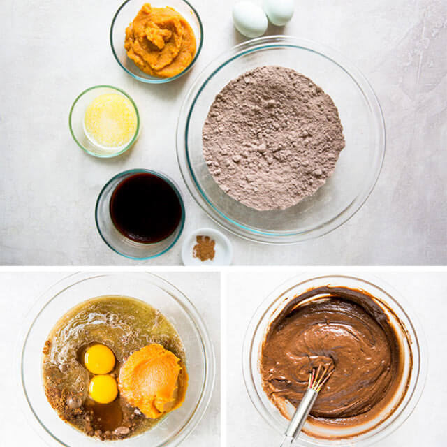 collage on how to make chocolate cake