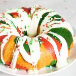 multicolored bundt cake