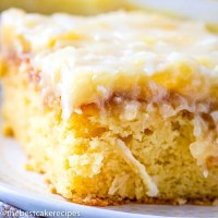 7up cake with cooked coconut icing