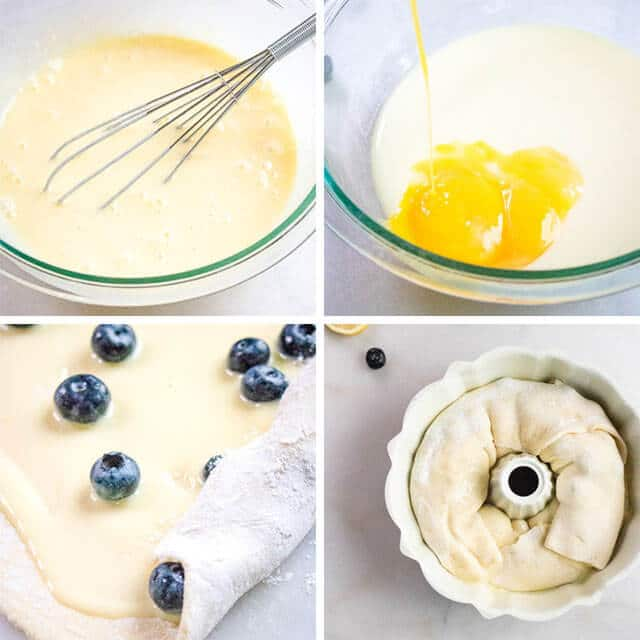 how to make Lemon Blueberry Coffee Cake
