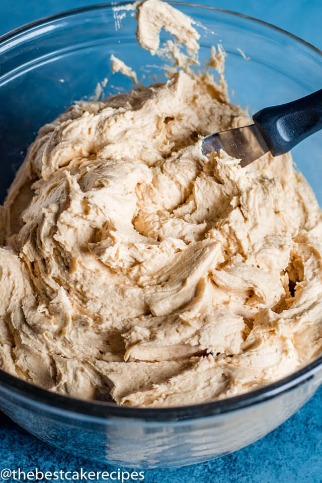 Peanut Butter Frosting in a bowl