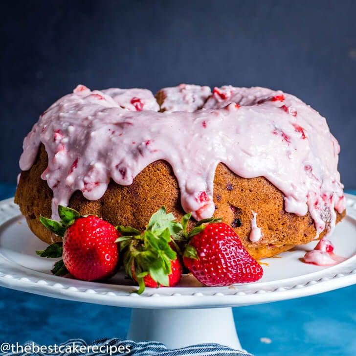 Fresh Strawberry Bundt Cake square image