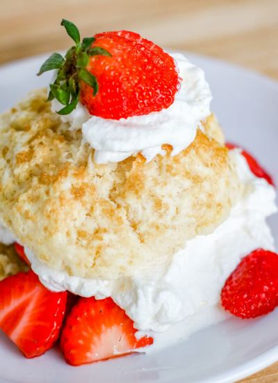 3 layer Homemade Strawberry Shortcakes