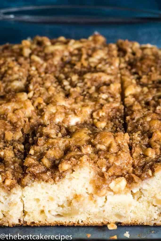 Apple Nut Crumb Cake in a 9x13 pan
