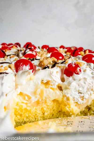 Banana Split Cake Recipe with pudding