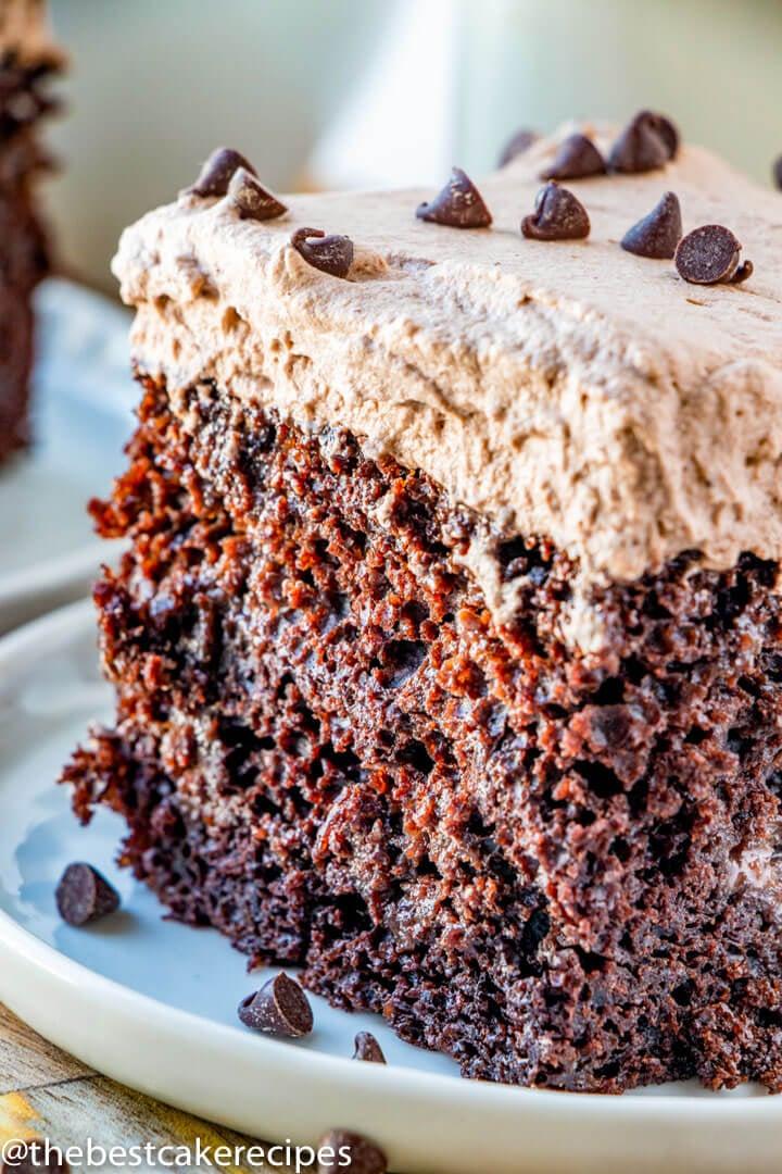 Outstanding Chocolate Tres Leches Cake Recipe Homemade Three Milk Cake Funny Birthday Cards Online Kookostrdamsfinfo