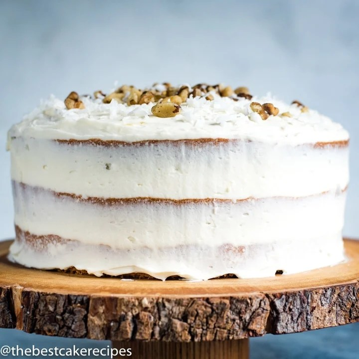 cream cheese frosted Black Walnut Cake