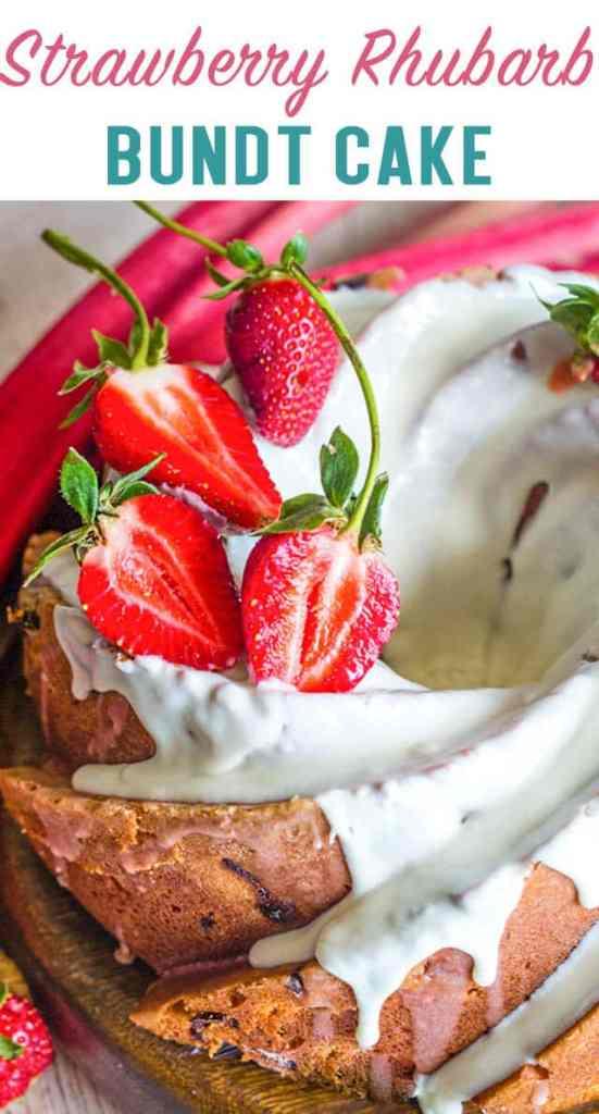 Strawberry Rhubarb Bundt Cake title image