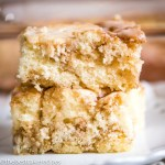 pieces of Cinnamon Roll Cake