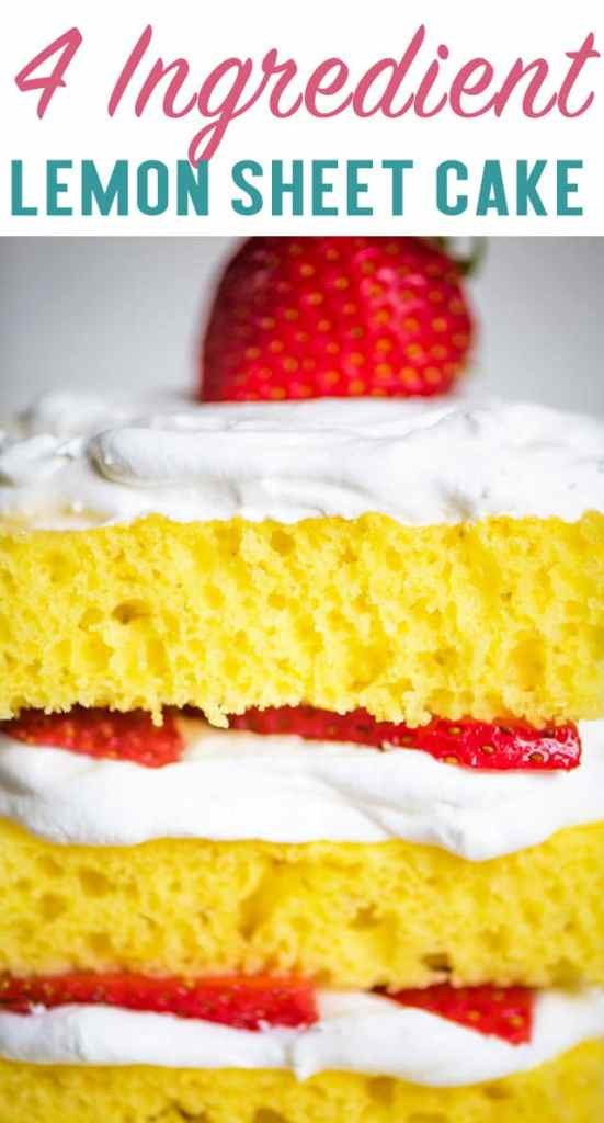 4 Ingredient Lemon Sheet Cake