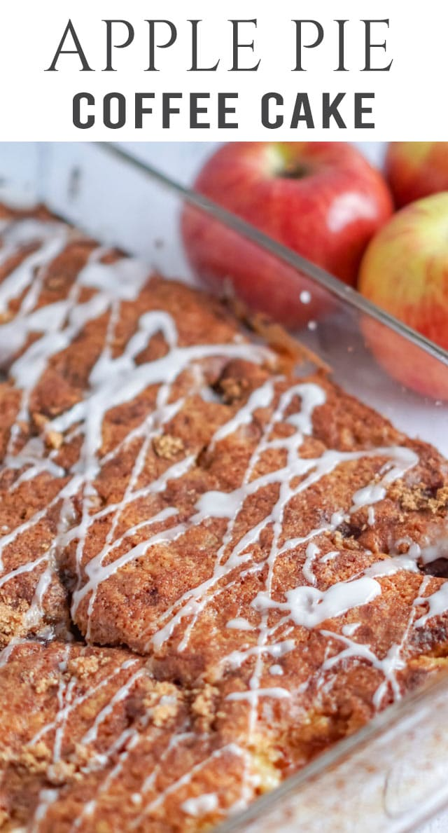 This easy, from scratch cake tastes just like the apple pie you know and love. Apple Pie Cake with fresh apples, pecans and a sweet glaze. #applepie #cake #breakfast via @thebestcakerecipes