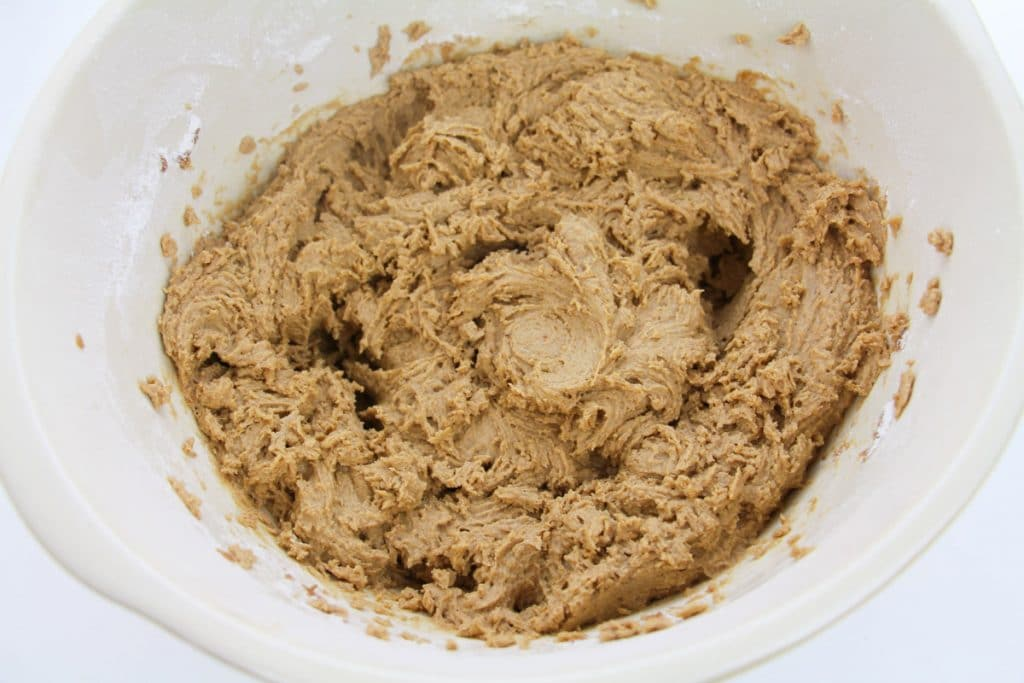 Easy Apple Butter Cake batter in a mixing bowl