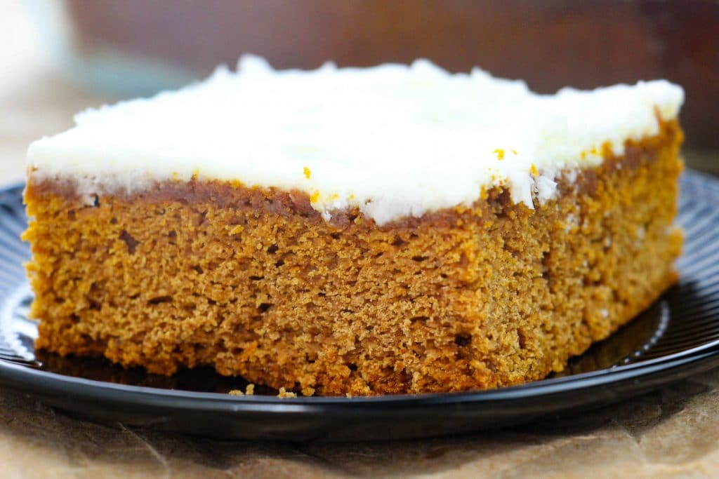 slice of Easy Apple Butter Cake on a plate