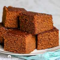 Gingerbread Cake on a plate