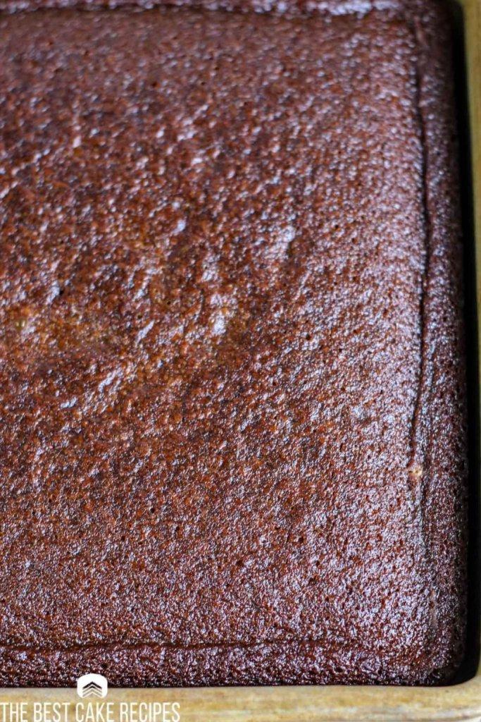 baked Gingerbread Cake Recipe in 9x9 pan