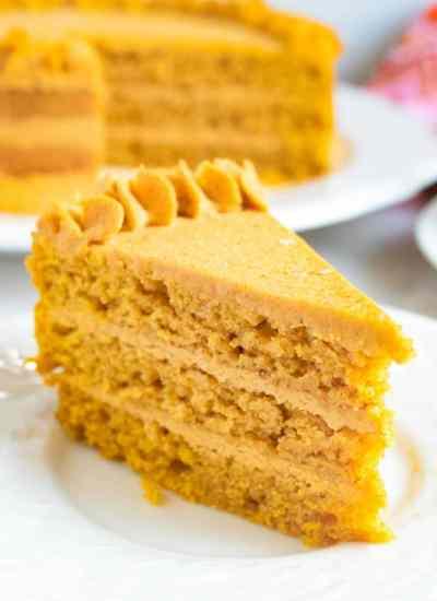 Pumpkin Cake with Pumpkin Ganache