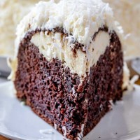 snowball cake with cream cheese filling