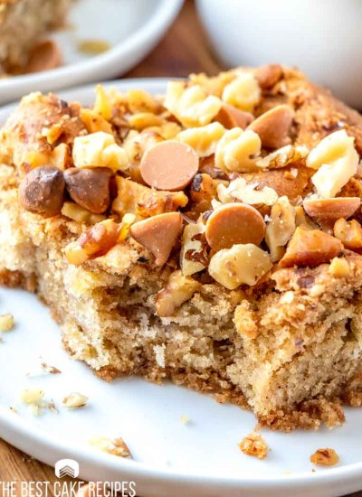 cake with butterscotch chips and walnuts