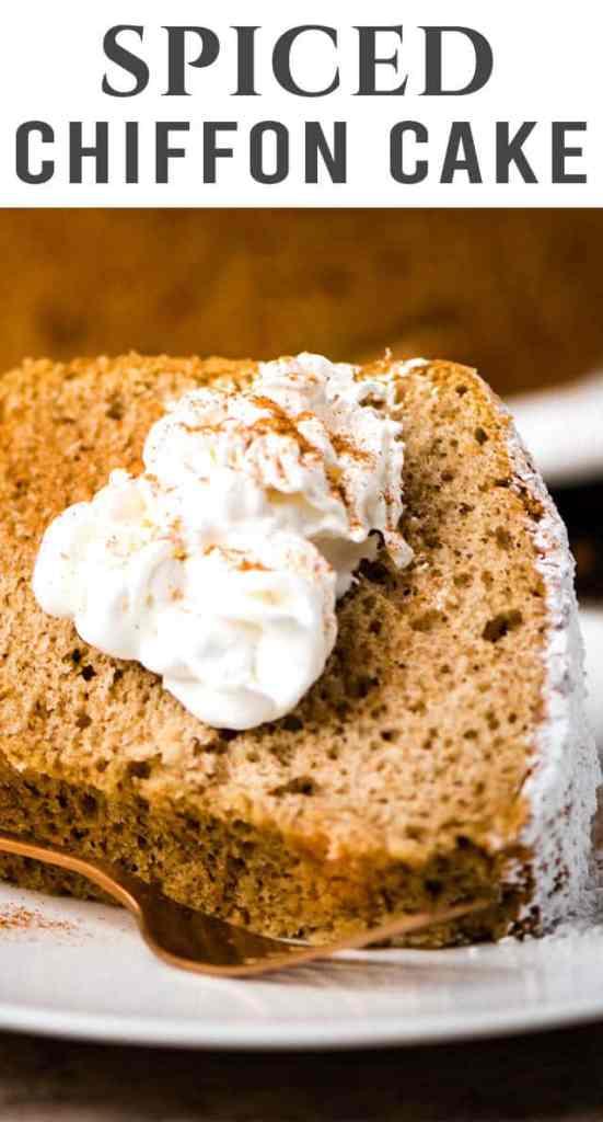 Spiced Chiffon Cake title image