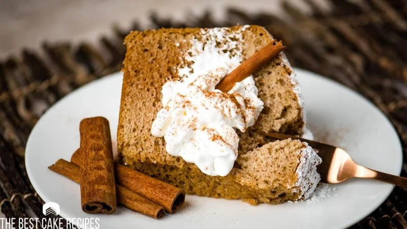 spiced chiffon cake with cinnamon sticks