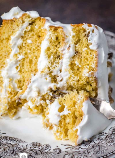 4 Layer Walnut Cake with whipped cream
