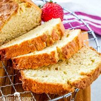 sliced loaf cake