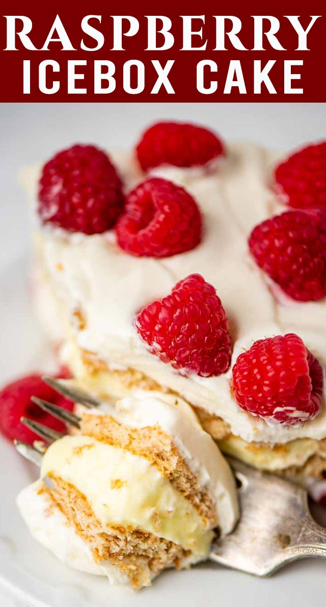 Tart lemon and fresh raspberry flavors come together so perfectly in this wonderful raspberry lemon icebox cake. Creamy, tangy, and just sweet enough, this icebox cake is a winner! via @thebestcakerecipes
