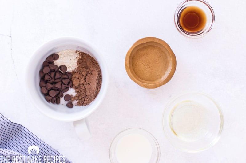 how to mix a chocolate mug cake