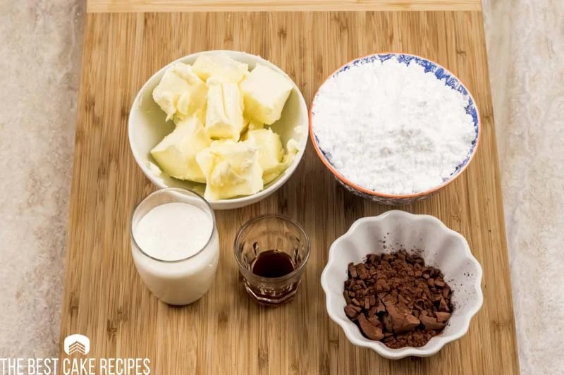 ingredients for chocolate keto frosting