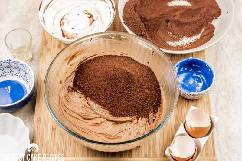 ingredients for cake in cake bowl