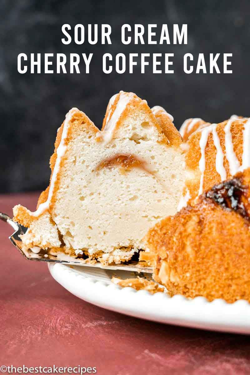 Moist, flavorful and perfect with your morning cup of coffee this Delicious Cherry Coffee Cake with Crumb Topping is easy and tasty! via @thebestcakerecipes