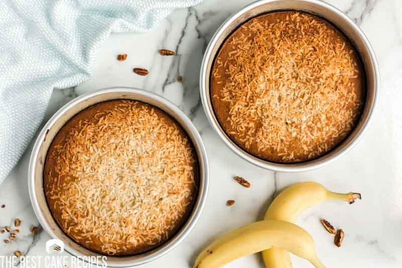baked coconut banana cake
