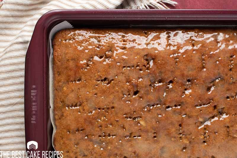 glazed pecan prune cake