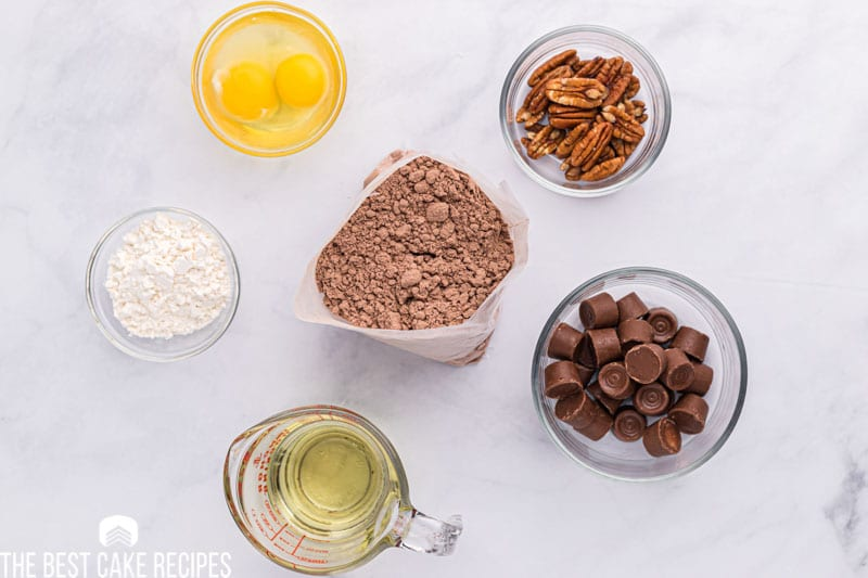 ingredients for cake mix cookies on a table
