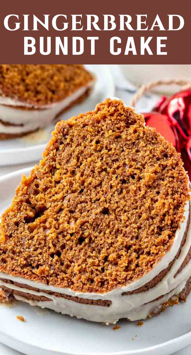 Only 10 minutes prep time for this easy 100% homemade gingerbread bundt cake. Perfectly spiced and with a maple glaze, your family will love this holiday dessert! via @thebestcakerecipes