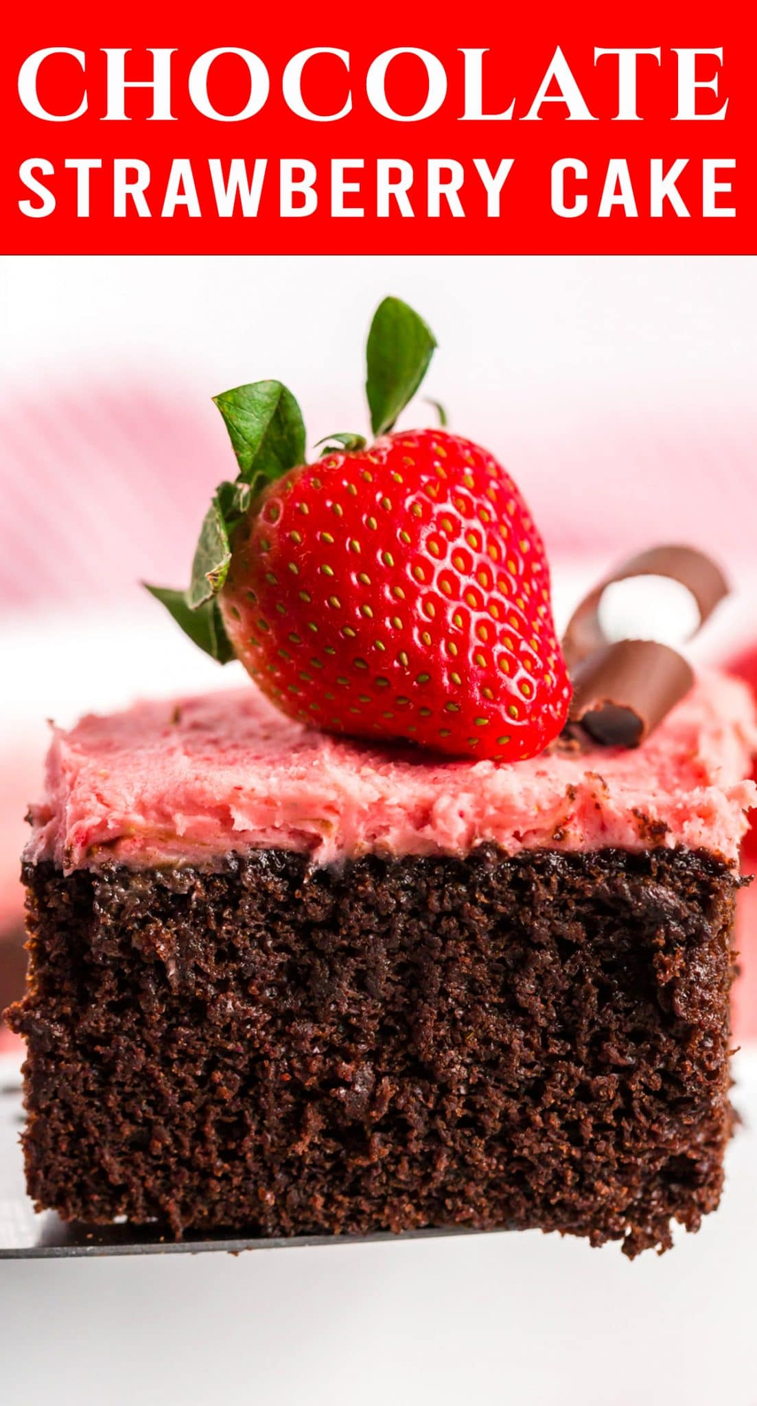 The most amazing chocolate & strawberry combo: 100% homemade Chocolate Strawberry Cake! Everyone can easily make this from scratch cake with delicious flavor. via @thebestcakerecipes