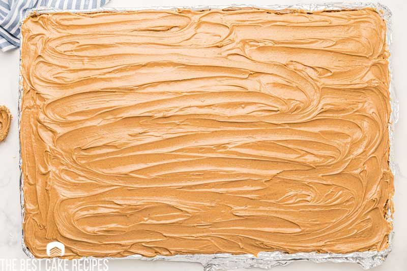 peanut butter frosted cake