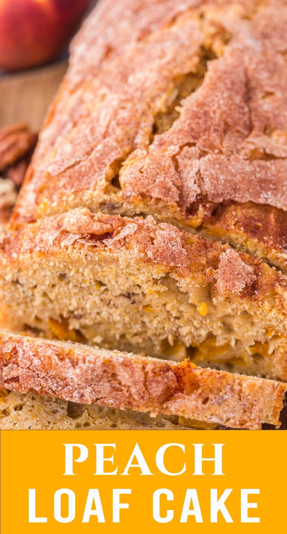 There's nothing like freshly baked cake with pecans and mouth watering peaches. Peach Loaf Cake recipe is sure to become a summer favorite. via @thebestcakerecipes