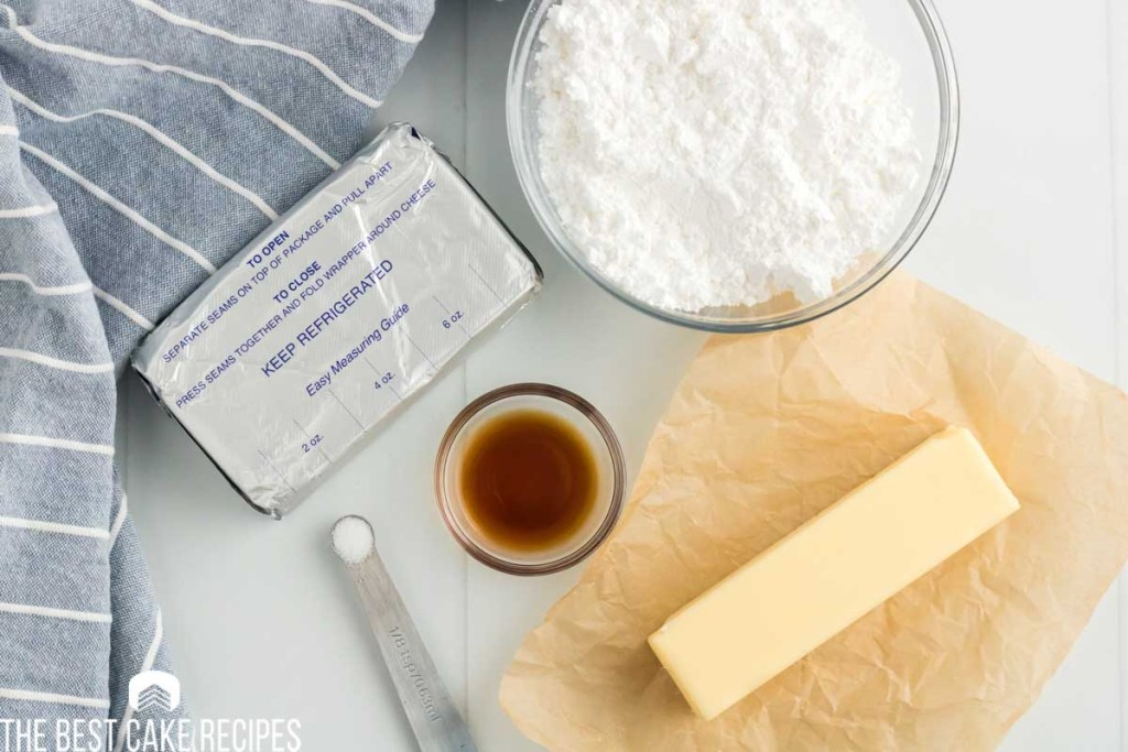 ingredients for frosting on a table